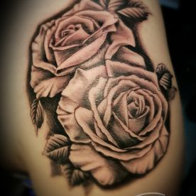 TATTOO,TATOEAGE,REALISTISCH,REALISTIC,BLACK AND GREY,ROZEN,ROSES