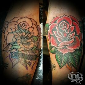 tattoo,tatoeage,cover up,old school,colour,roos,roses